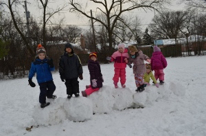 We're all great snowball builders!