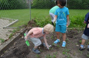 Gardening is a great way for children to learn how to sow and reap fruits and plants.